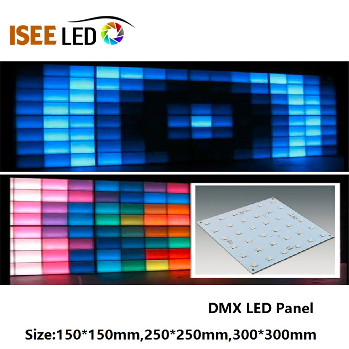 250mm DMX RGB Led Panel Işık