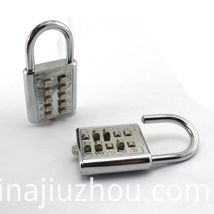 Luggage Button Padlock Mini Padlock