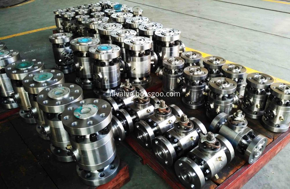 Two Pcs Forged Steel Hard Seal Ball Valve
