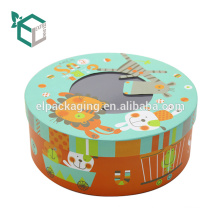 Wholesale price logo stamping custom packaging fashion style chocolate box with clear lid