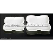 Porcelana de cerâmica servindo pratos forma flor eurohome marca P0106
