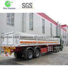 Semi-remorque semi-remorque à gaz hydraulique haute pression à gaz CNG