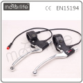 Aluminum e-bike brake lever, waterproof plug
