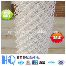 Valla de enlace de PVC revestida de PVC blanco