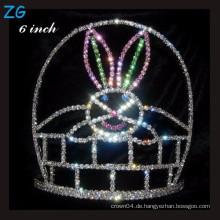Farbige Kaninchen Festzug Krone Halloween Tiara Für Kinder, Kristall Ostern Krone