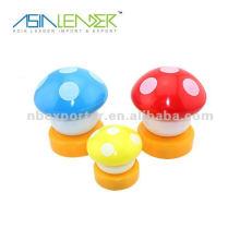 Lumière tactile à champignons colorés