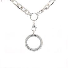 Colar e correntes dos pendentes do medalhão do difusor do lúpulo do quadril, correntes do saco do gunmetal