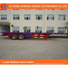 2 Axle Flatbed Semi Trailer