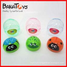 Pequena promoção puxar para trás brinquedo animal inseto para crianças