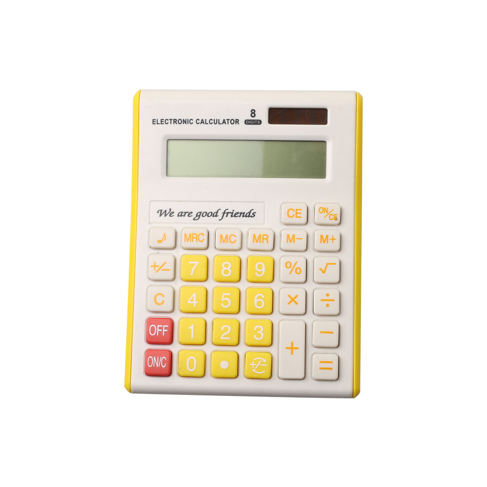 8 Digits Colorful Office Desktop Calculator with Dual Power