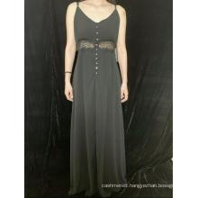 Sleeveless V-Neck Dress For Lady