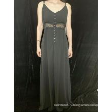 Платье без рукавов с V-образным вырезом для леди