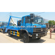 Dongfeng 4*2 swing arm garbage truck with hydraulic system