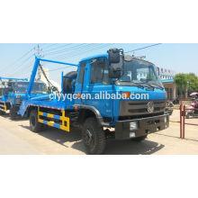 Dongfeng 4 * 2 caminhão de lixo balanço braço com sistema hidráulico