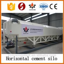 Mettre dans le conteneur un silo de ciment horizontal de 35 tonnes