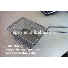 Fry basket/food colander/noodle strainer/fry basket mesh strainer/food serving basket/fry basket mesh strainer