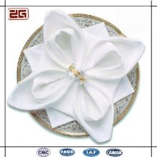 Elegantes Luxux-kundengebundenes Hotel-Hochzeits-Tabellen-Leinen-einfaches Weiß 100Cotton Serviette