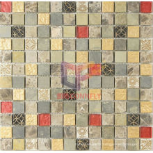 Wall and Floor Used Marble with Resin Glass Mosaic (CSR060)