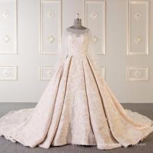 Vestido de novia de alta calidad de manga corta vestido de novia