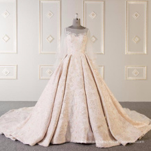High quality short sleeve wedding dress bridal gown