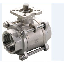 3-Pic Ball Valve with Mounting Pad for Actuator