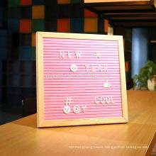 Oak Frame Felt Letter Board 10 x 10 360 Changeable Letters
