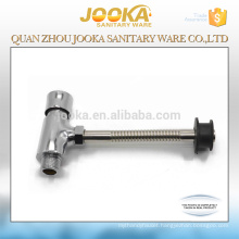 Zinc body foot control time delay toilet flush valve