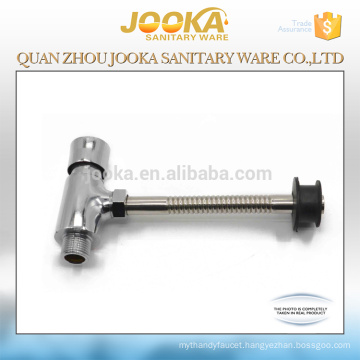 Zinc body foot control time delay toilet flush valve