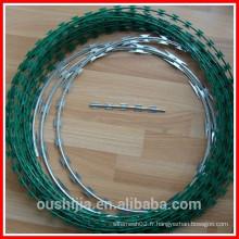 Poutre en pvc en acier inoxydable galvanisé fil barbelé