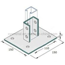 Cartão de aço personalizado Slotted Strut Channel Base Plate