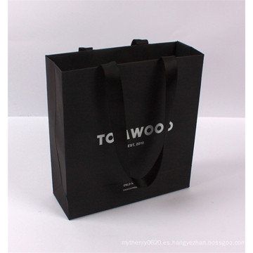 proveedor de bolsas de papel de compras de fabricación china con mango