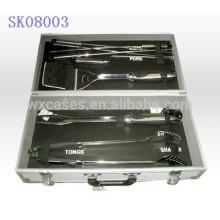 caja de herramientas de aluminio fuerte y portátil BBQ