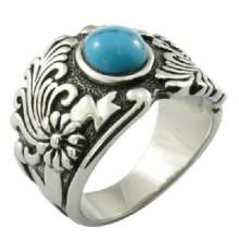 Пользовательские бирюзовый камень мужчин кольцо