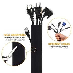 Neoprene Cable Organizer Wrap Cable Sleeve with Zipper