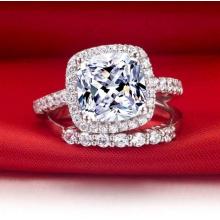 Joyería artificial del anillo de diamante de la manera blanca clara clara de la manera