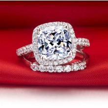 Звезда Яркий Ясный Белый Мода Искусственный бриллиантовое кольцо Ювелирные изделия