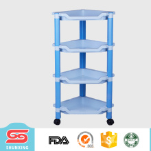 Guangdong household articles storage 4-layer kitchen rack plastic for sale