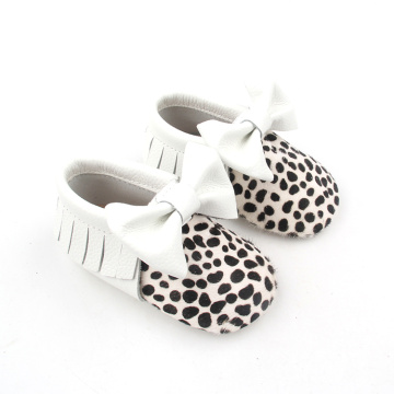 Mo-Hair Leather Moccasins Baby Shoes