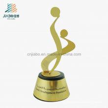 Trofeo de encargo del regalo de la promoción del estampado de cobre amarillo de la decoración superior del hogar