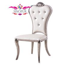 Chaise moderne baroque en bois ou en acier inoxydable