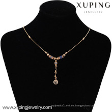 42495 -Xuping Hotsale Collar de estilo especial joyería 18K chapado en oro