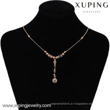42495 -Xuping Hotsale Estilo Especial Colar De Jóias De Ouro 18K Banhado