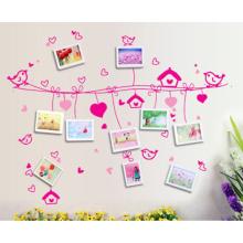 Многоразовые наклейки MOQ 500 Съемный стикер домашнего декора, виниловые съемные наклейки стикер стены