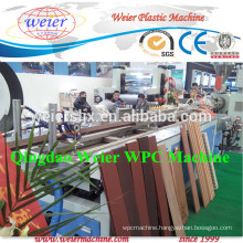 Conical double screw extruder for making WPC PE decking profile with CE
