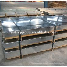 ferro galvanizado do galvalume da folha de metal e bobina de aço g550 z275 tira de aço galvanizada