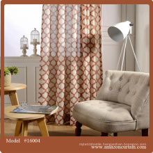 2 Piece Curtain printed Woven Lattice Jacquard Curtain Blackout Insulated Elegant Modern