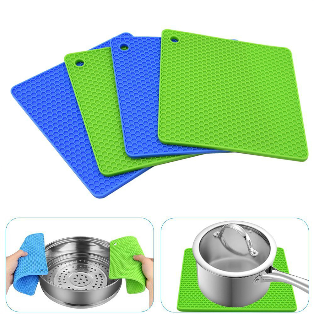 Square silicone pot holder (2)