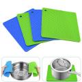 Outils carrés de cuisine de supports carrés de pot de silicone approuvés par la FDA