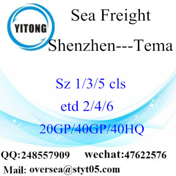 Shenzhen Port Sea Freight Shipping Para Tema