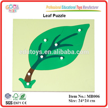Montessori Materials Wooden Educational Puzzle Toys Leaf Puzzle